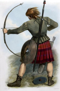 Fig 24: Macquarrie Costumes of the Clans of Scotland. 1899. The Clans of the Scottish Highlands, (R. R. McIan 1845)
