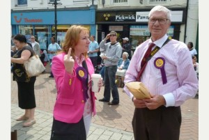 Janice Atkinson of UKIP explaining the finer points of UKIP immigration policy to a #racist #bigot